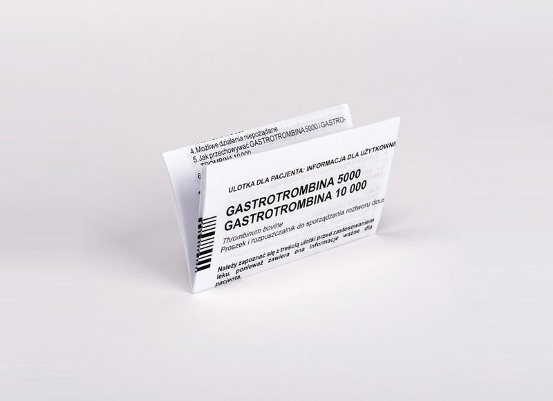 Ulotka Gastrotrombina 5000, 10000